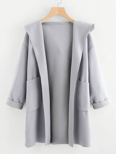 Dual Pocket Hooded Coat