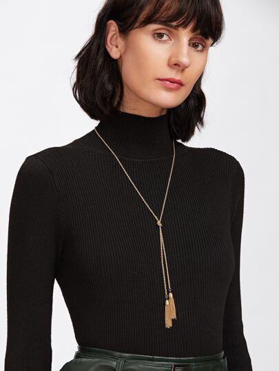 Chain Tassel Wrap Necklace