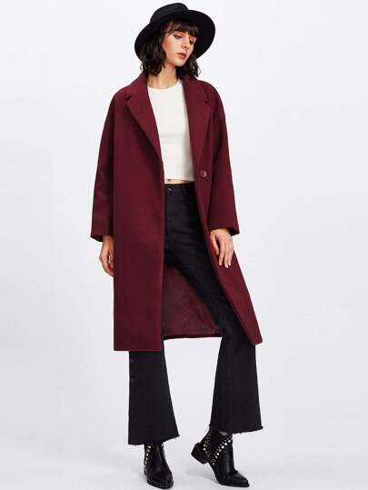 Notch Collar Longline Coat