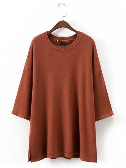 Suéter extragrande con cordón en la parte trasera