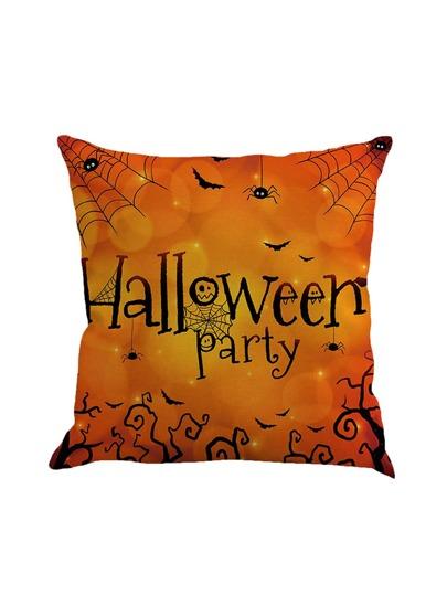Halloween Print Pillowcase Cover