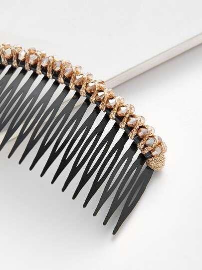 Rhinestone Trim Comb Clip