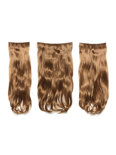 Mix Auburn Clip In Soft Wave Hair Extension 3pcs