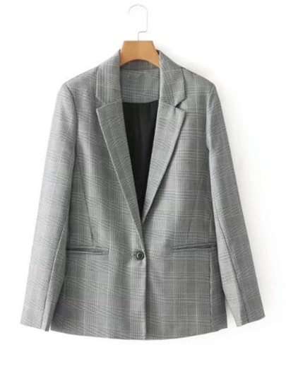 Tailored Glen Plaid Blazer