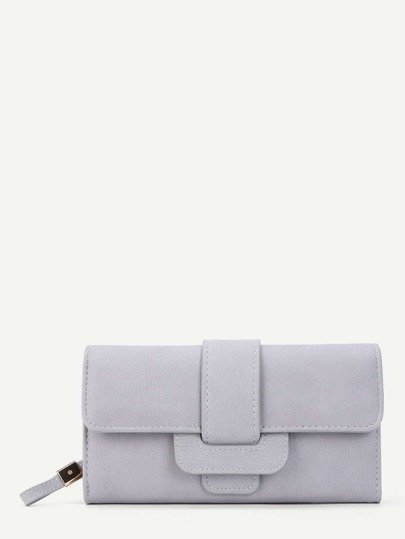 Buckle Front PU Purse