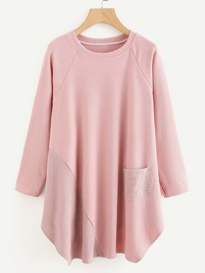 Raglan Sleeve Textured Dress