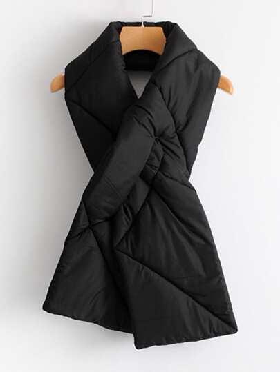 Bufanda larga acolchada