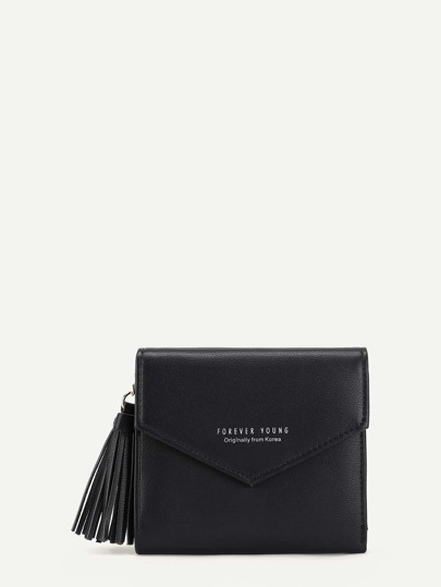 Tassel Detail Flap Purse