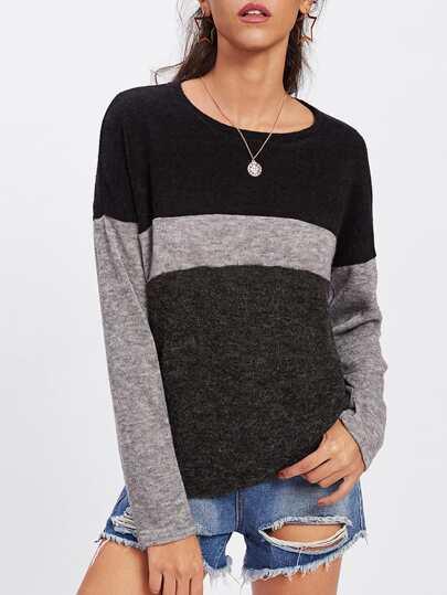 Drop Shoulder Cut And Sew T-shirt