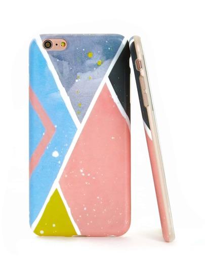 Coque d\'iPhone avec bloc de couleur