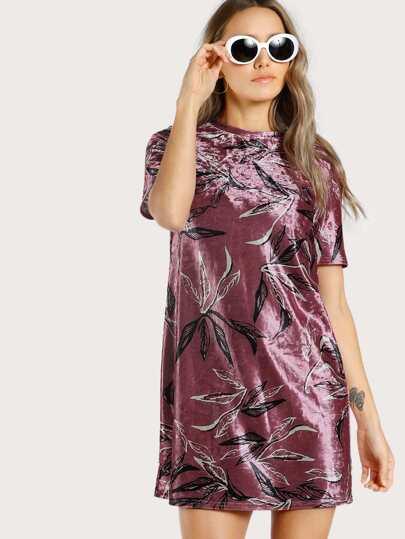 Velvet Tee Dress
