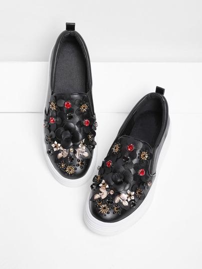 Zapatillas con adorno de flor