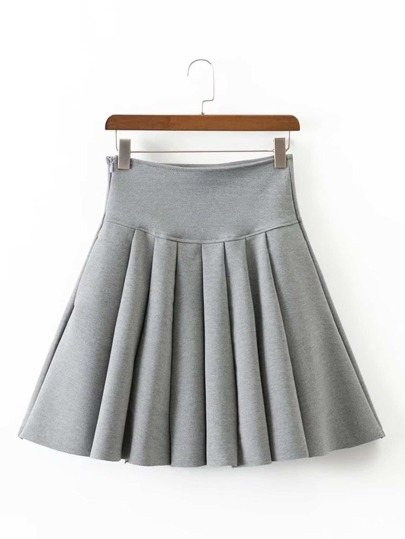 High Waist Flared Skirt