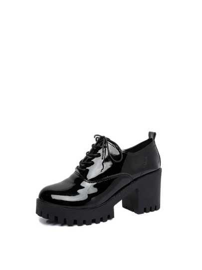 حذاء بسهولة نسائي-بكعب عال بجلد صناعي