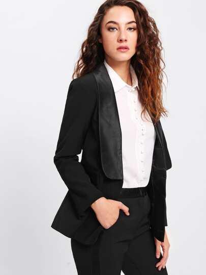 Shawl Collar Tailored Blazer