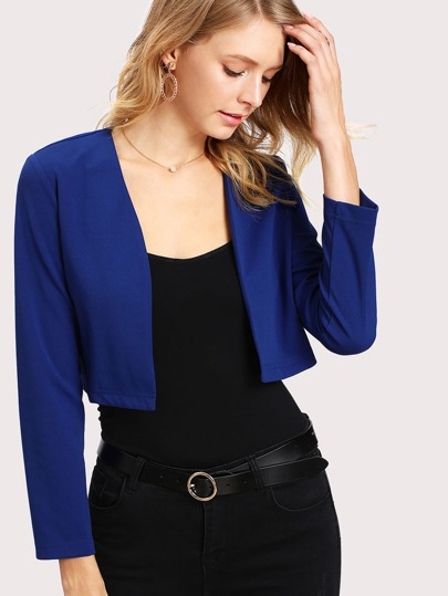 Open Front Crop Jacket