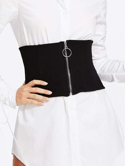 Cinturón con cremallera y aro