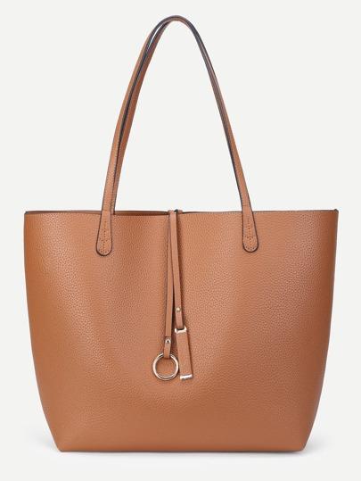 Oversized PU Tote Bag