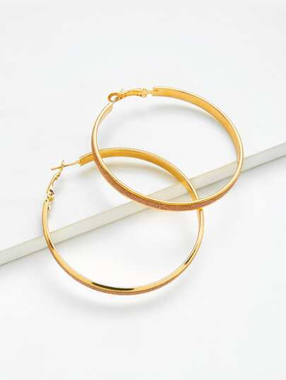 Oversized Open Hoop Earrings