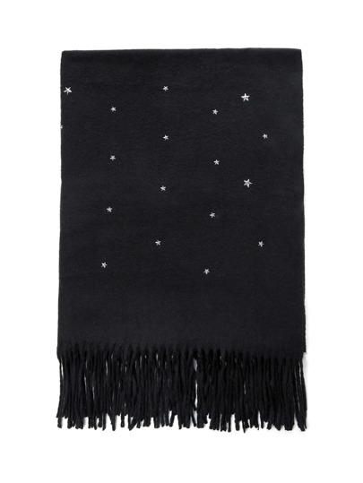 Schal mit Fransen und Stern