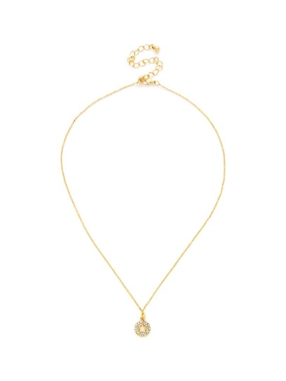 Hollow Star Round Pendant Chain Necklace