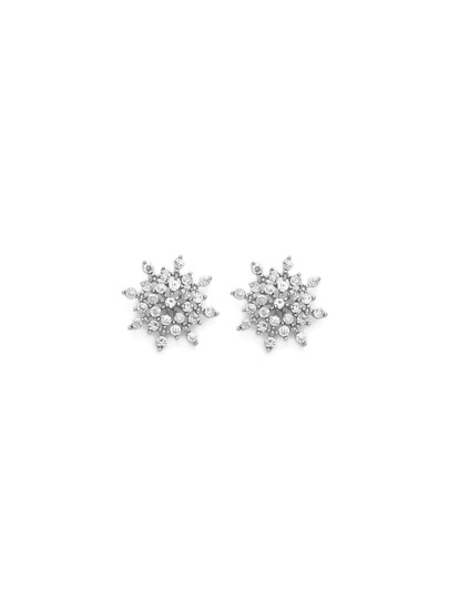 Rhinestone Snowflake Design Stud Earrings