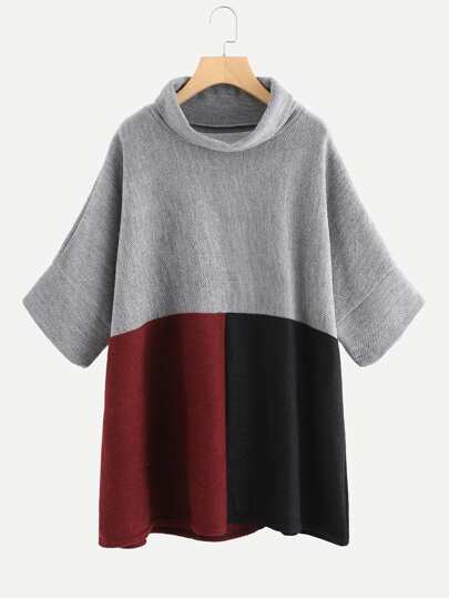 Cut And Sew Panel Pullover