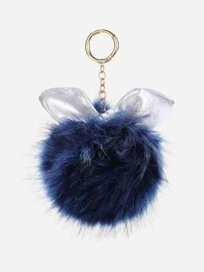 Accessoire de sac design de l\'oreille avec pompon