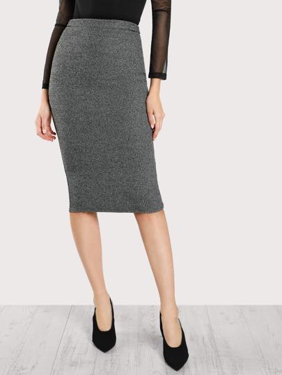 Falda de punto elástica