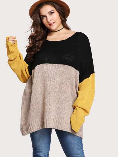 Cut und Sew Übergroßer Pullover