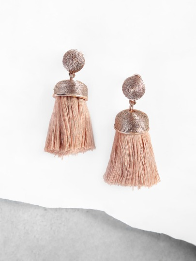 Wired Dot Tassel Earrings BLUSH