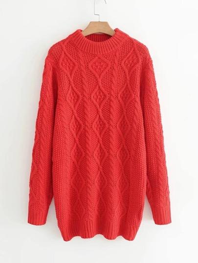 Vestito in maglia a cavo