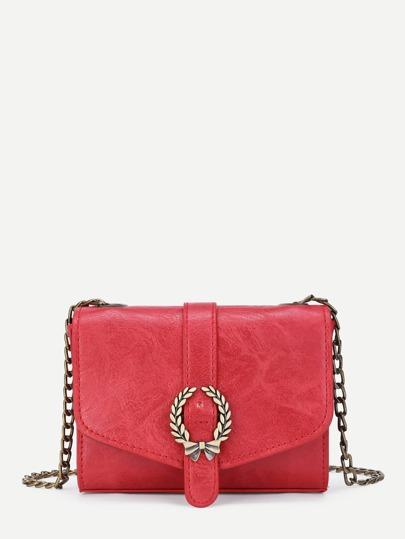 Metal Bow Detail PU Chain Bag