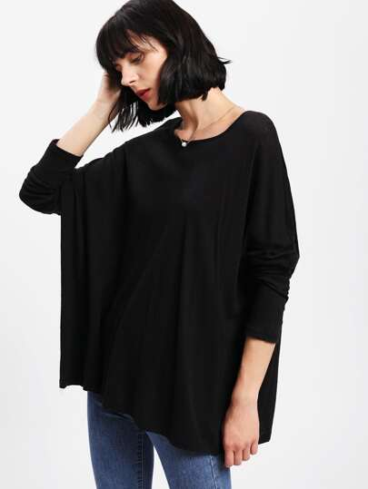 Oversized Solid Dolman Tee