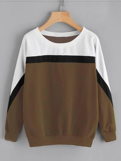 Sweat-shirt pièce de couleur