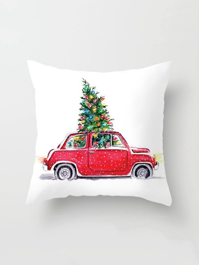 Christmas Print Pillowcase Cover