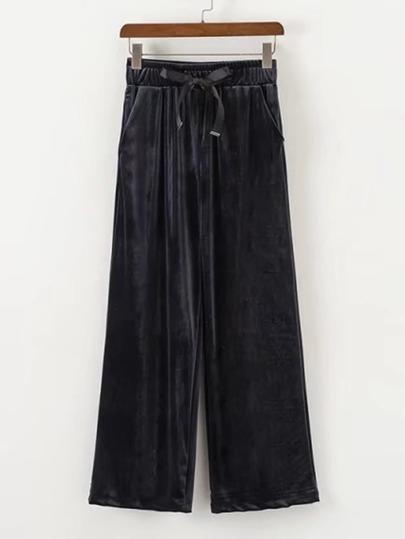 Pantalones anchos de terciopelo