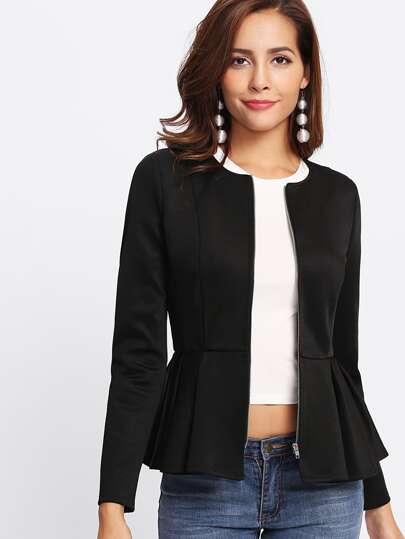 Veste plissé avec zip