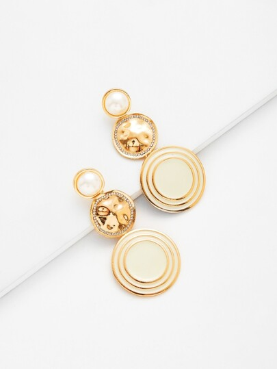 Round Drop Earrings With Jewelry