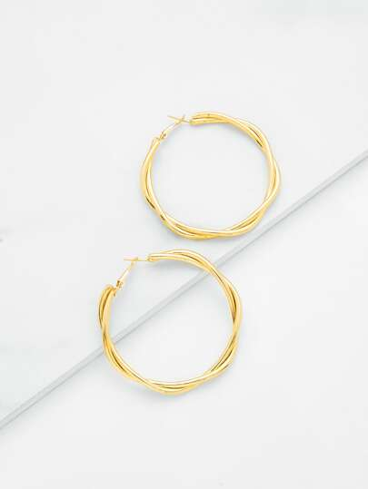 Layered Wrap Hoop Earrings