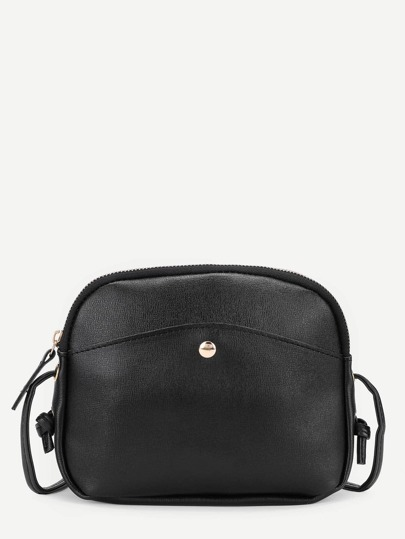 Zipper Design PU Crossbody Bag