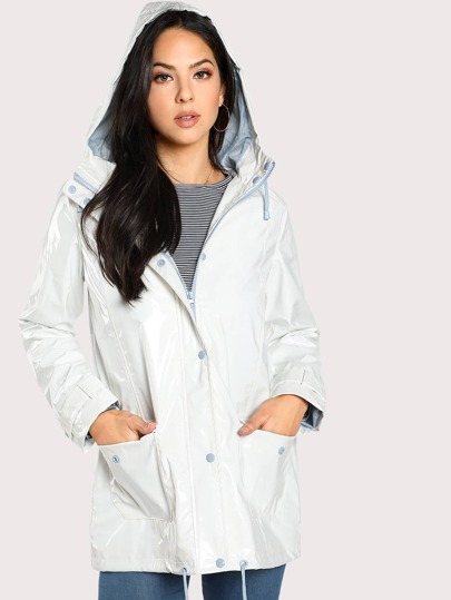 Manteau coupe-vent à capuche avec le zip