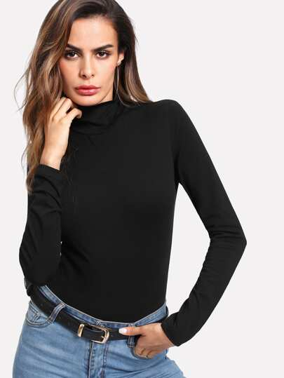 High Neck Fitted Bodysuit