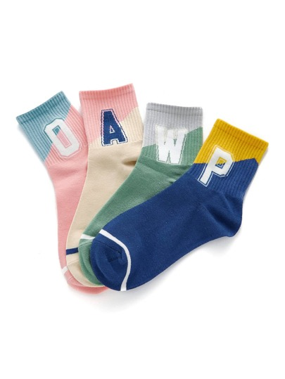Calzini di blocco di colore 4 coppie