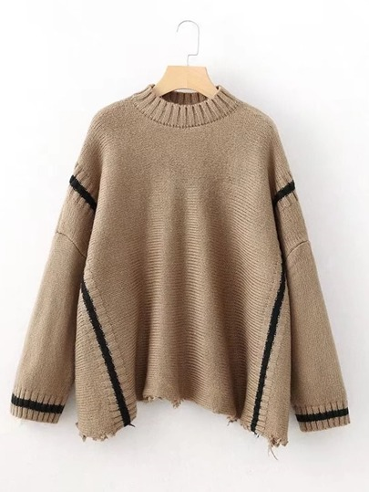 Raw Hem Oversized Sweater