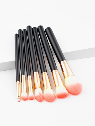 Two Tone Handle Makeup Brush 7pcs