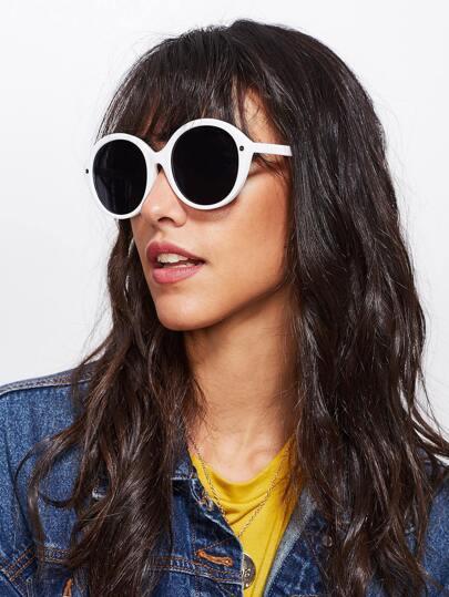 Two Tone Flat Lens Sunglasses