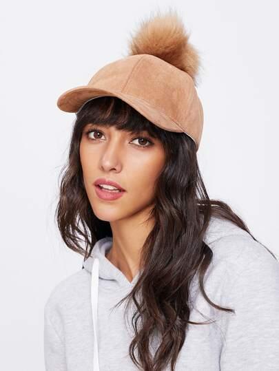 Cappellino con pompon