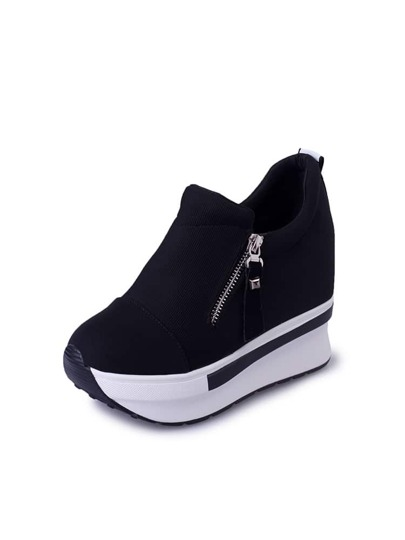 أحذية الرياضة-نعل عريض بسحاب
