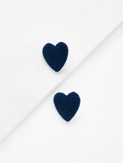 Heart Design Stud Earrings